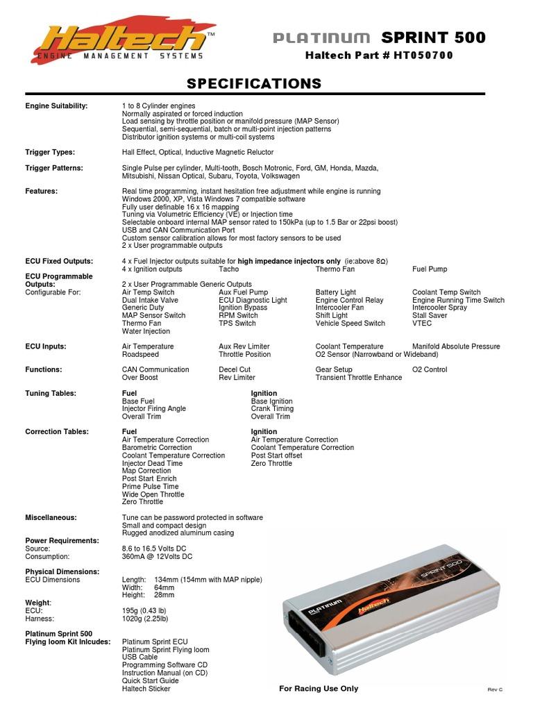 Platinum Sprint 500 Rev C Pdf