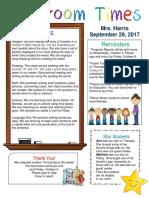 sept  29 newsletter