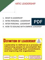 Leadrrship in Organization