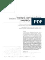 La Produccion Intelectual y Artistica de Las Mujeres en La Plastica y Revista de Arte