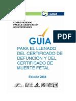 Guia Para El Llenado Del Certificado de Defuncion y Muerte Fetal