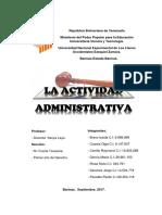 Actividad Administrativa