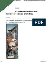 Pensadores_ a Escola Libertadora de Paulo Freire _ Curso Enem Play