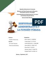 Responsabilidad Administrativa y La Función Pública Informe
