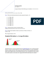 Which Leads to the Average Deviation Formula