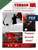 La Verdad, órgano de divulgación del PCS, N° 21, octubre 2017