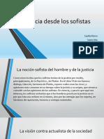 La Justicia Desde Los Sofistas