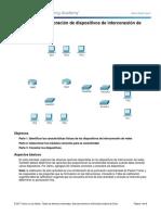 6.3.1.8 Packet Tracer - Exploración de Dispositivos de Interconexión de Redes