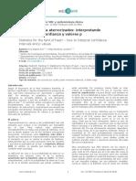 (2014) Interpretando Intervalos de Confianza y Valores p