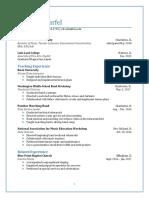 warfel resume fall 2017