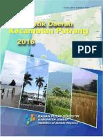 Statistik Daerah Kecamatan Patrang 2016