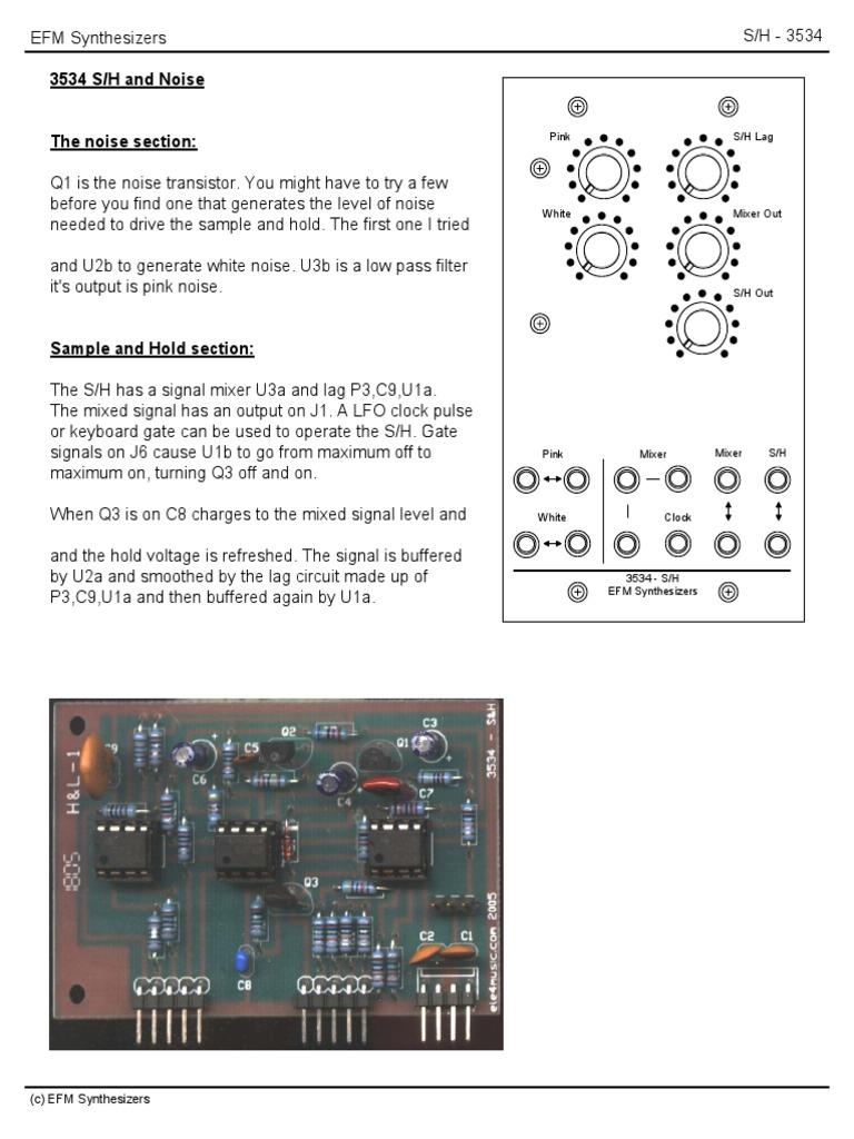 Efm 3534 Noise S H Computer Engineering Electronic Digital White Generator Circuit