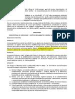 Prospecto de Ordenanza Municipal Para Supervicion y Control Alimentario