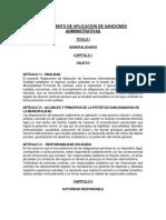 Reglamento de Aplicación de Sanciones Municipalidad Provincial de Caravelí 2016
