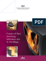 Causes of Fires Involving Television Sets in Dwellings
