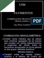Ejercicio de combinación de agregados - Método analítico
