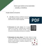 Arreglos atómicos, Ciencia de Materiales