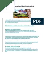 4 Asas Utama Pengelolaan Keuangan Desa