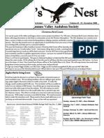 November-December 2008 Eagle's Nest Newsletter Kissimmee Valley Audubon Society