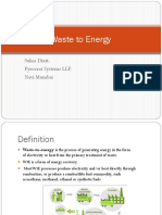 Suhas Dixit - Waste to Energy