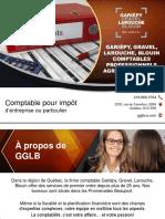 GGLB - Comptable pour impôt d'entreprise ou particulier à Québec