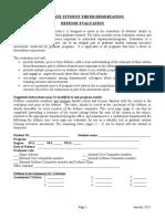 Thesis-dissertation Defense Evaluation 2013C
