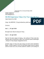 4D3N Experience Tokyo City Tour Plus Mt.fuji