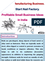 Wire Nails Manufacturing Business. How to Start Nail Factory. Profitable Small Business Ideas in India