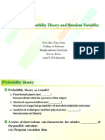 Ch2 Probability Theory and Random Variables