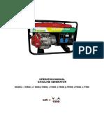 Gasolinene Generators LT2000 LT7500 20090000