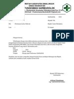 Surat Undangan Lintas Sektoral Triwulan Ke 2