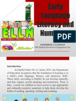 Early Language Literacy and Numeracy Copy