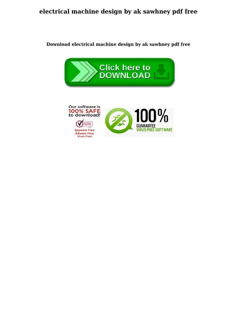 Download electrical machine ebook