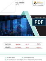 Equity Premium Daily Journal-11th October 2017-Wednesday