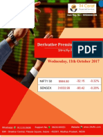 Derivative Premium Daily Journal-11th October 2017-Wednesday