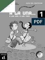 A La Una Libro Profesor Espanol