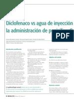 Diclofenaco vs Agua de Inyeccic3b3n Como Diluyente Para La Administracic3b3n de Penicilina g Benzatina Benzetacil