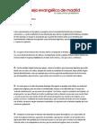 Comunicado hecho público por el Consejo Evangélico de Madrid