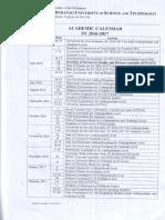 Must Academic Calendar 2016 2017