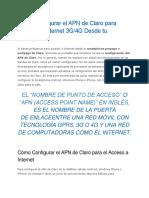 Cómo Configurar el APN de Claro para Acceder a Internet 3G.docx