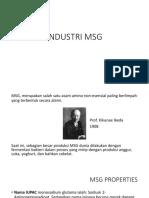 Industri Proses MSG
