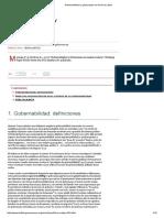 Gobernabilidad y Gobernanza en America Latina