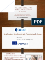 A presentation for the Best Practices Benchmarking Course in Finnish Schools by Anisoara Aydin, Romania