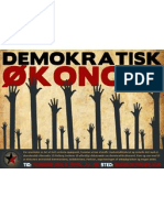 Plakat for møde om demokratisk økonomi - LS-Aalborg