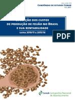 Feijão Custo Compendio de Estudos Conab - Volume 5 2017