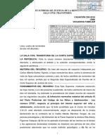 CAS 250-2016-Lima~Conflictos en la pareja que alteren desarrollo del menor no constituyen violencia psicologica