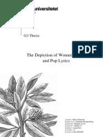 The Depiction of Women in Rap