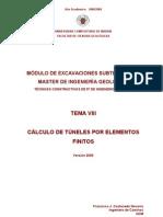 Tema VIII Calculo Tuneles Elementos Finitos v 2009