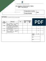 Evaluación Lenguaje y Comunicación 3 LIBRO SOFIA BASTA YA