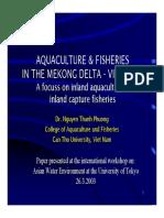 Aquaculture & Fisheries in Mekong Delta